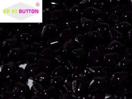 Spiky Button 4,5x6,5mm Jet ca 50 Stueck