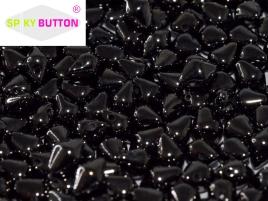 Spiky Button 4,5x6,5mm Jet Hematite ca 50 Stueck