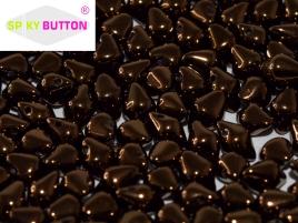 Spiky Button 4,5x6,5mm Jet Bronze ca 50 Stueck