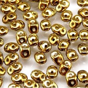 SuperDuo Perlen 2,5x5mm Gold DU0500030-26440 ca 24gr