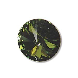 Swarovski Elements Rivolis 10mm Olivine foiled 1 Stück