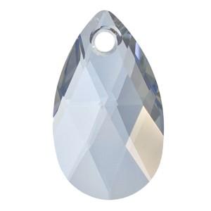 Swarovski Elements Anhänger Pear Pendant 28mm Crystal Blue Shade