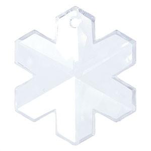 Swarovski Elements Anhänger Snowflake 20mm Crystal