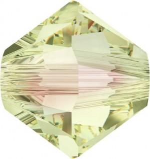 Swarovski Elements Perlen Bicones 4mm Crystal Luminous Green beschichtet 100 Stück