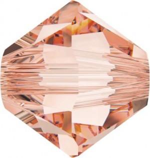 Swarovski Elements Perlen Bicones 4mm Rose Peach 100 Stück