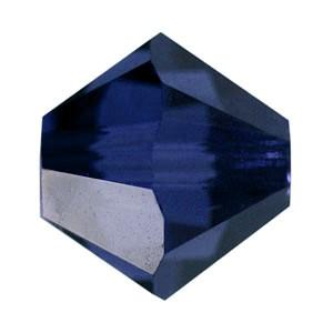 Swarovski Elements Perlen Bicones 3mm Dark Indigo 50 Stück