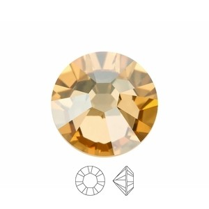 Swarovski Elements Chaton Steine SS39 Crystal Golden Shadow foiled