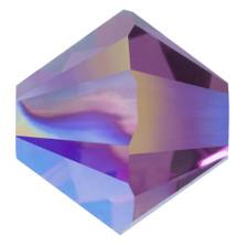 Swarovski Elements Perlen Bicones 3mm Crystal Amethyst Shimmer 2X beschichtet  100 Stück