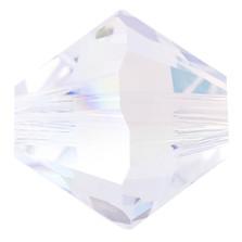 Swarovski Elements Perlen Bicones 4mm Crystal Shimmer beschichtet  50 Stück