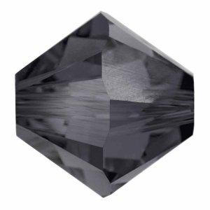 Swarovski Elements Perlen Bicones 4mm Graphite 100 Stück