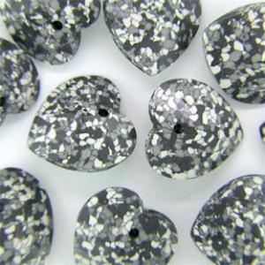 Swarovski Elements Anhänger Herzen 14mm Marbled Black 1 Stück
