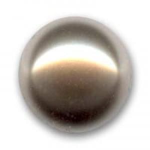 Swarovski Elements Perlen Crystal Pearls 6mm Bronze Pearls halb gebohrt flach 10 Stück