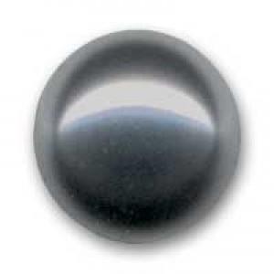 Swarovski Elements Perlen Crystal Pearls 8mm Dark Grey Pearls halb gebohrt flach 10 Stück