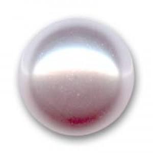 Swarovski Elements Perlen Crystal Pearls 8mm Rosaline Pearls halb gebohrt flach 10 Stück