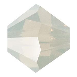 Swarovski Elements Perlen Bicones 3mm Light Grey Opal 100 Stück
