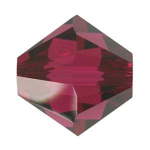 Swarovski Elements Perlen Bicones 3mm Ruby 100 Stück