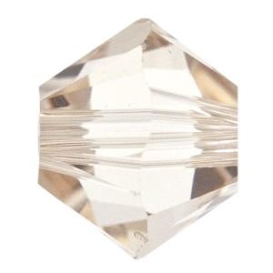 Swarovski Elements Perlen Bicones 3mm Light Silk 50 Stück