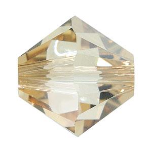 Swarovski Elements Perlen Bicones 6mm Crystal Golden Shadow beschichtet 50 Stück