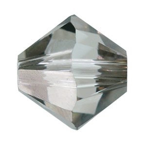 Swarovski Elements Perlen Bicones 6mm Crystal Satin beschichtet 50 Stück