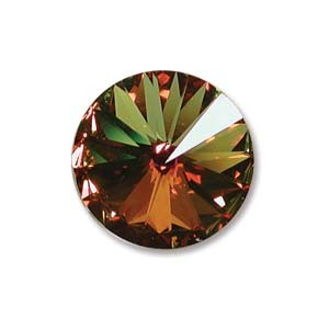 Swarovski Elements Rivolis 14mm Crystal Sahara beschichtet foiled 1 Stück