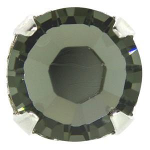 Swarovski Elements Rose Montees 4mm Crystal Silver Night beschichtet 30 Stück