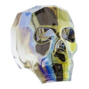 Swarovski Elements Scull Bead 13mm Crystal Iridescent Green beschichtet 1 Stück