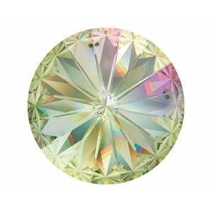 Swarovski Elements Rivolis 14mm Crystal Luminous Green foiled 6 Stück