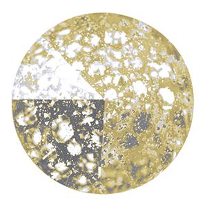 Swarovski Elements Rivolis 14mm Crystal Gold Patina F 6 Stück
