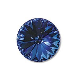 Swarovski Elements Rivolis 14mm Sapphire foiled 6 Stück