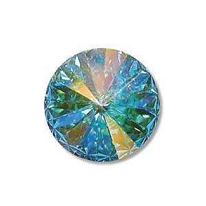Swarovski Elements Rivolis 14mm Crystal AB foiled 6 Stück