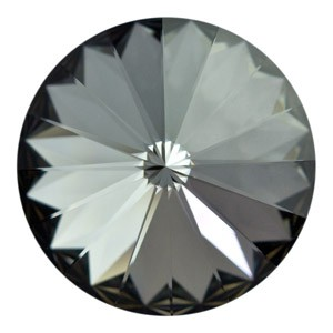 Swarovski Elements Rivolis 16mm Crystal Silver Night foiled 1 Stück