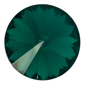 Swarovski Elements Rivolis 10mm Emerald F 1 Stück