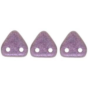 Zwei Loch Dreieckperlen 15 6mm polychrome light Pink ca 10 gr
