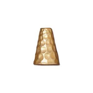 Tierracast Perlenkappe Hammertone gold 12x9mm 2 Stück