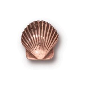Tierracast Perle 10mm Small Shell kupferfarben 2 Stück