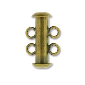 Rohrsteckverschluss 16mm 2-strängig Antique Brass 1 Stück