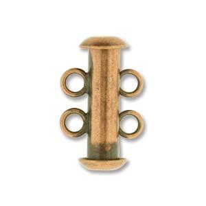 Rohrsteckverschluss 16mm 2-strängig Antique Copper plated 1 Stück