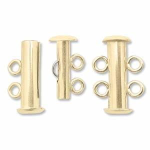 Rohrsteck-Verschluss 2-strängig 16mm goldfilled