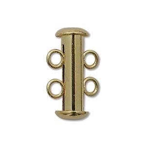 Rohrsteckverschluss 16mm 2-strängig Gold plated 1 Stück