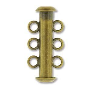 Rohrsteckverschluss 21mm 3-strängig Antique Brass 1 Stück