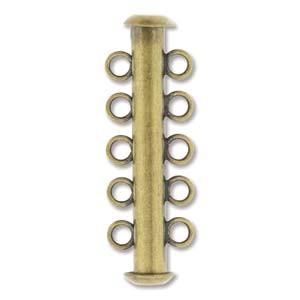 Rohrsteckverschluss 31mm 5-strängig Antique Brass 1 Stück