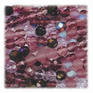 Glasschliffperlen 3mm MIX 100 Stück  Lilac