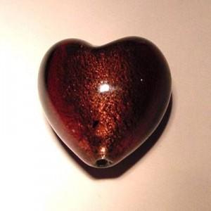 Glasperlen silverfoiled Herz 20x20mm amethyst 10 Stück