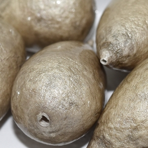 Paper Mache Bead Drop 40x23 mm Grey 1Stück