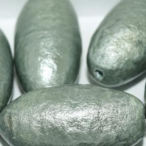 Paper Mache Bead Olive 40x18 mm Jeansblue 1Stück