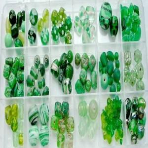 Glasperlen Mix XLgrün