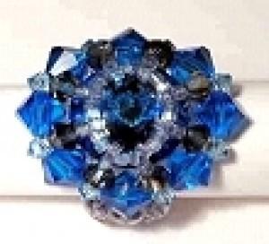 Perlenset Ring Bergsee Bermuda Blue