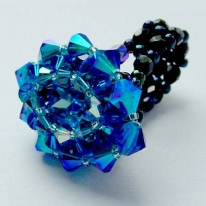 Perlenset Ring Venezia Aquamarine Capri Blue