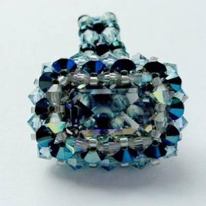 Perlenset Ring Roma Black Diamond Metallic Blue