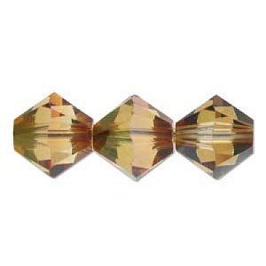 Swarovski Elements Perlen Bicones 4mm Crystal Mahagony beschichtet 100 Stück